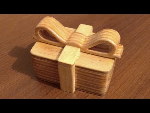 Making of wooden scroll saw gift box