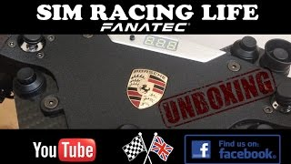 Fanatec Porsche 918 RSR ClubSport Wheel Rim Unboxing and First Look