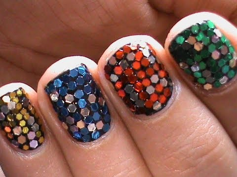 Big Glitter Cute Nail Designs For Short Nails Youtube