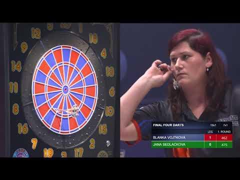 Semifinale –Blanka Vojtková vs. Jana Sedláčková   FINAL FOUR DARTS 2018