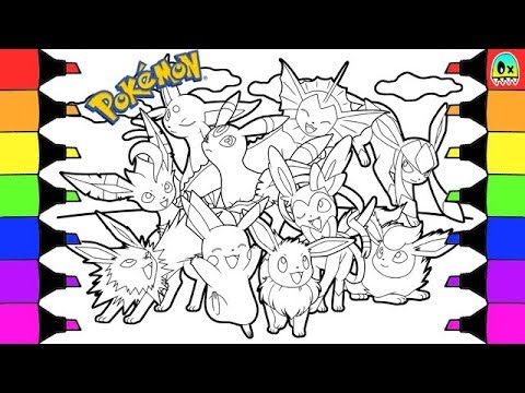 Pokemon Coloring Pages Eevee Evolutions and Pikachu Colouring Book ...