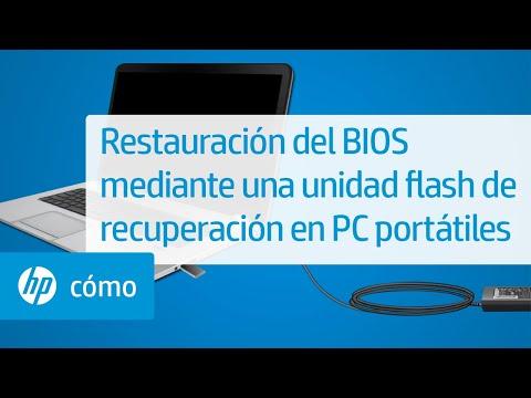Restauración del BIOS mediante una unidad flash de recuperación en PC portátiles | HP Computers | HP