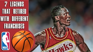 Why these 7 NBA Legends retired with different franchises