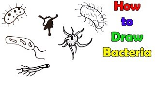 How to Draw Bacteria - VERY EASY - FOR KIDS
