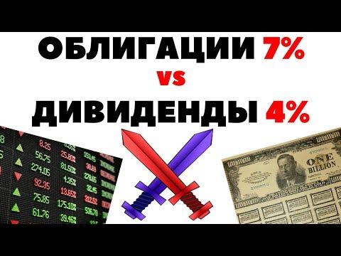 Куда вложить деньги в 2019 году: облигации 7% или дивиденды 4%? Инвестиции на 10000$