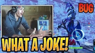 Ninja Reacts to Double Wall BUG! - Fortnite Best and Funny Moments