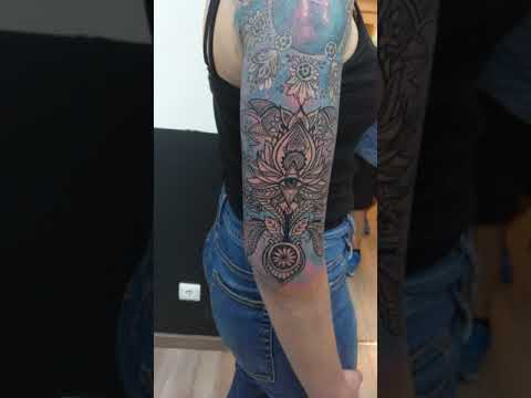 Cosmic Libra Constellation @ Andre Fernandez Tattoo - half sleeve project second session