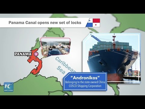 Panama Canal opens new set of locks