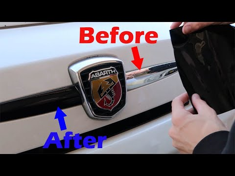 Vinyl Wrapping My Exterior Trim Pieces | Fiat 500 Abarth
