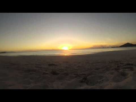 Antigua time lapse sunset.
