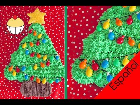 Facil Torta De Cupcakes Desarmable De Un Arbol De Navidad Youtube