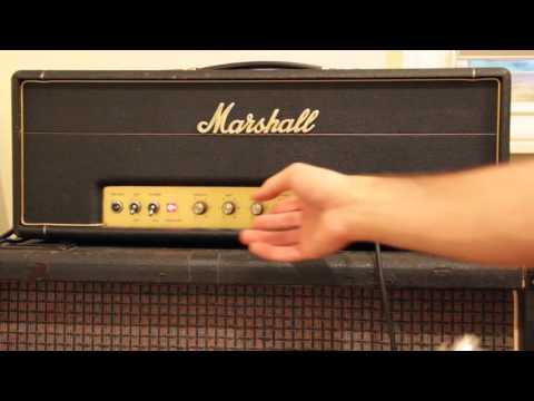 Vintage 1969 Marshall JMP50 50w Plexi Head