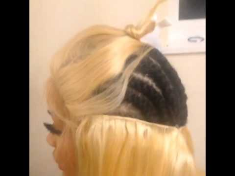 26 Inch Blonde Weave Extensions With Lace Closure By