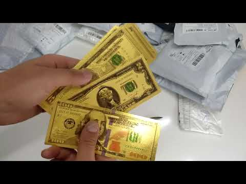 USA Gold Banknotes In 24K For Collection