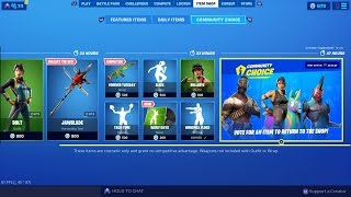 Fortnite New Item Shop Now Able To Choice Skins