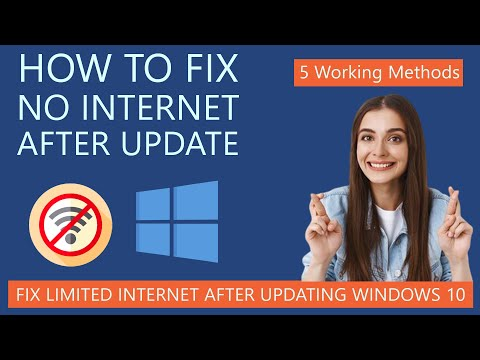 How To Fix No Internet After Updating Windows 10 | Limited WiFi After Update
