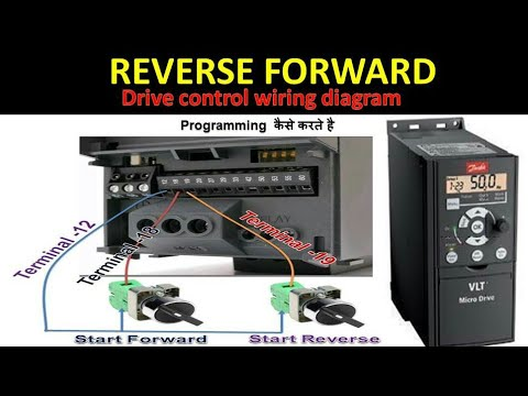 Danfoss Drive Start Forward And Reverse Direction In Hindi