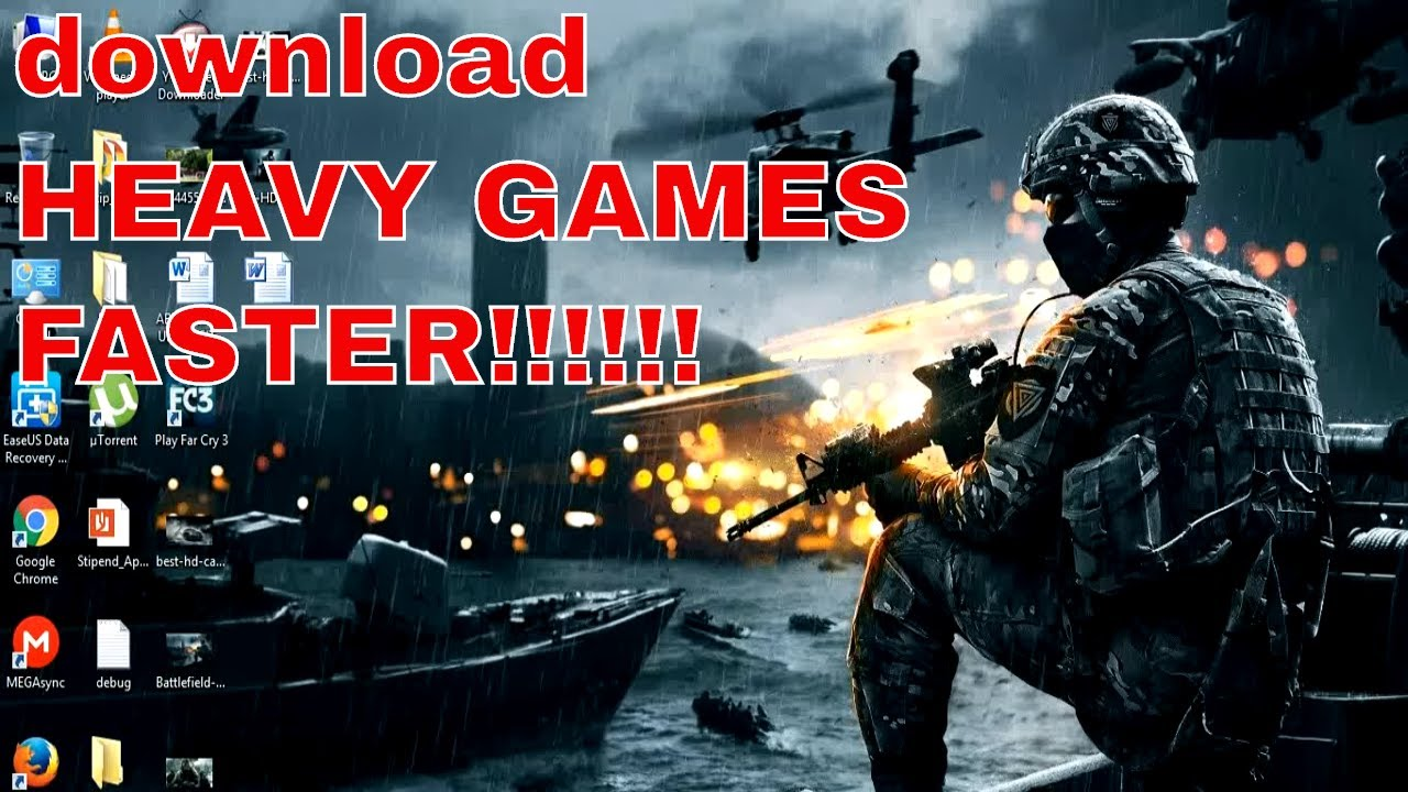 how to download pc games faster