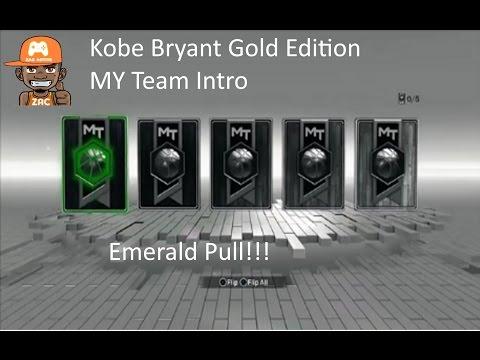 NBA 2K17 -  My Team Intro - Kobe Gold Edition Rewards and Emerald Pull!!!