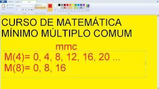 Mínimo Múltiplo Comum MMC Fatoração de números Divisores Aula do Curso de Matemática