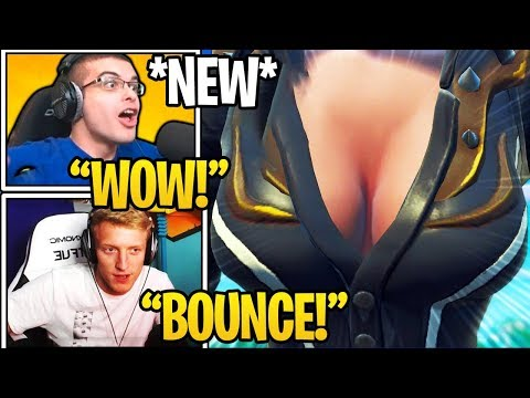 """Streamers React To *NEW* """"BOUNCE"""" Feature in Fortnite (Game Physics)"""