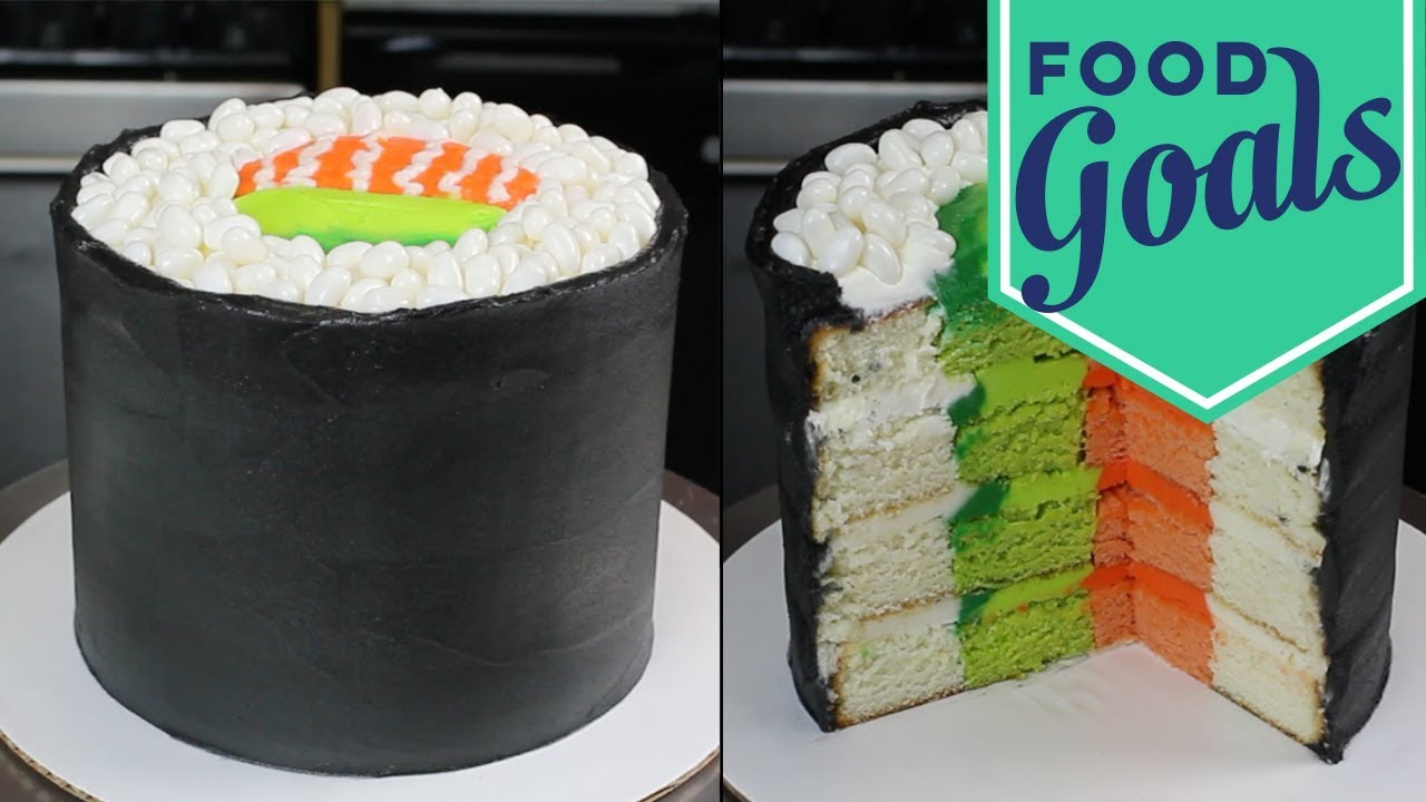 How to make fondant sushi cake