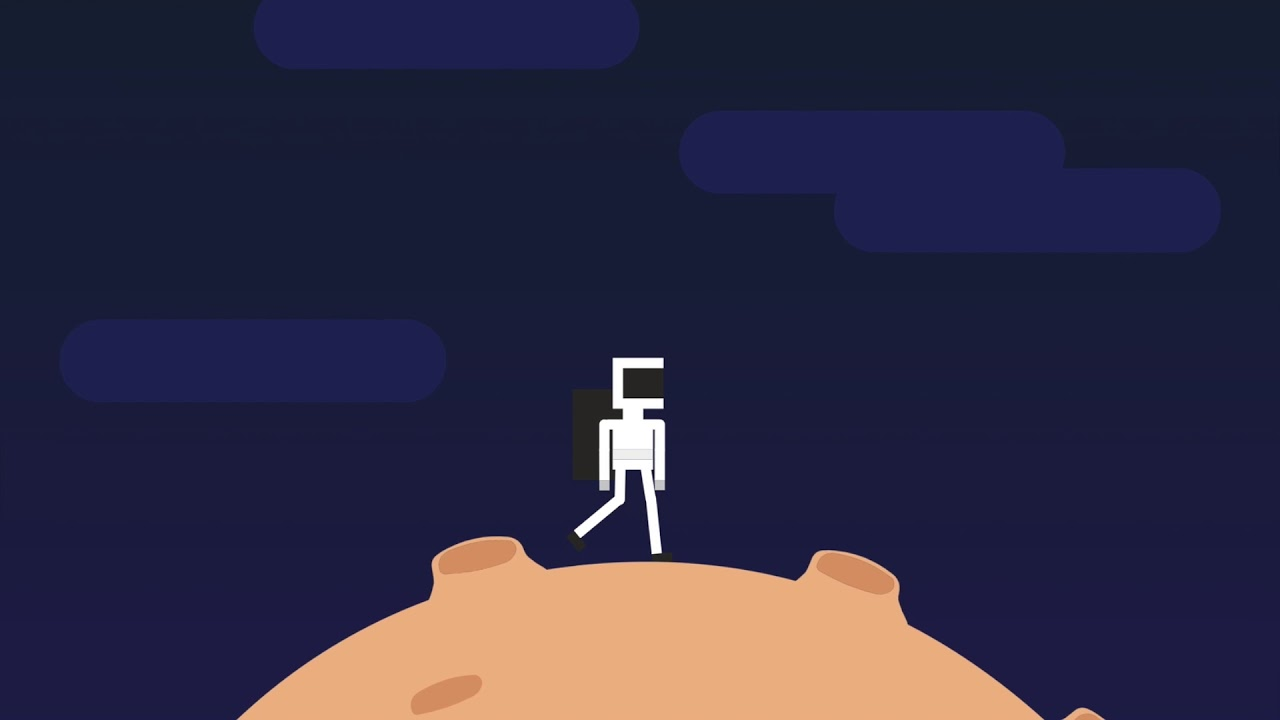 Astronaut walking (SVG animation on Codepen)