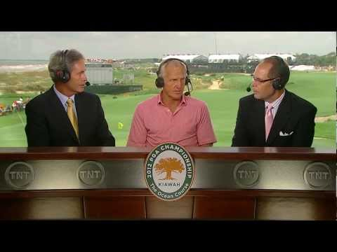 Greg Norman Joins the TNT Broadcast Booth at 2012 PGA Championship