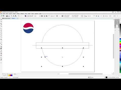 A simple way to draw Pepsi logo using CorelDraw