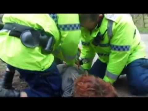 Barton Moss violent arrests of peaceful protectors against Fracking