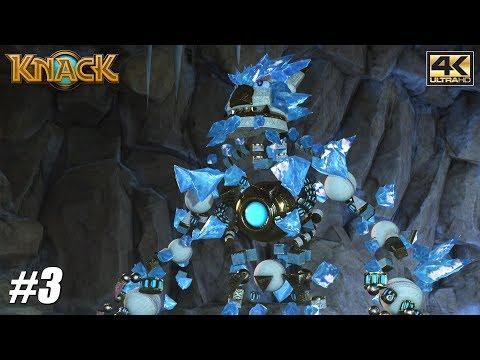 Knack - PS4 Pro Gameplay Playthrough 4K 2160p - PART 3