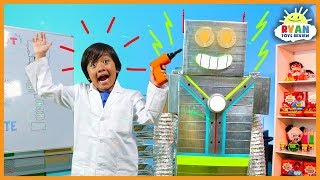Let's Build A Robot Kids Song | Body Parts Exercise and Dance for Children | Ryan ToysReview thumbnail