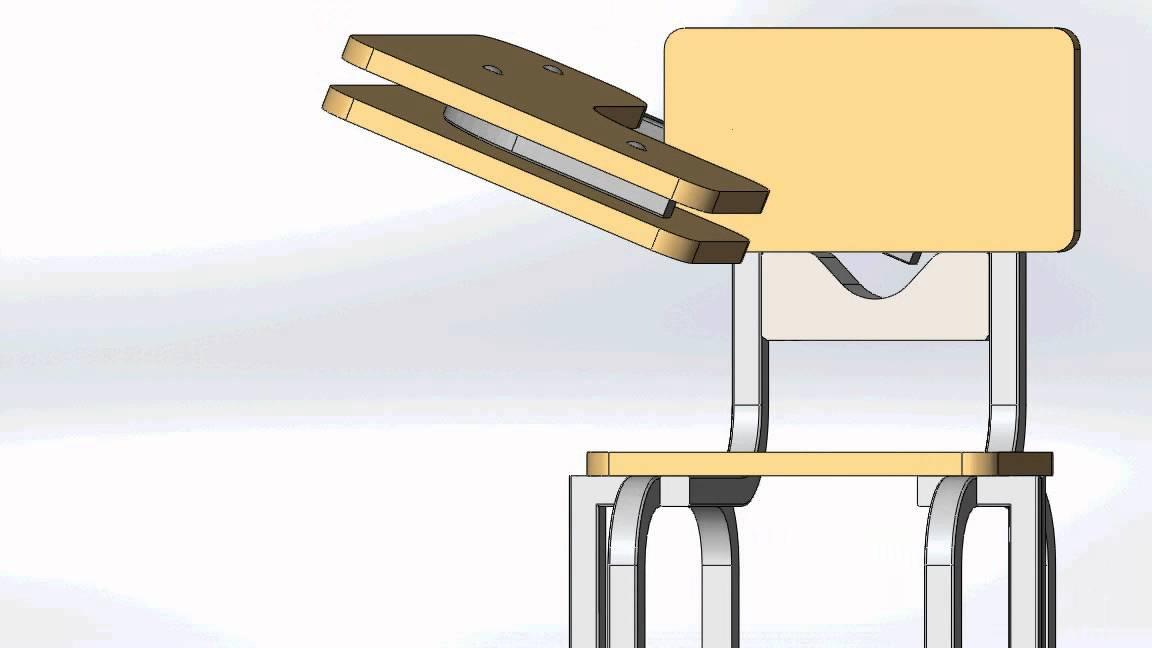 Solidworks ensamble animado banc sii youtube for Sillas escolares para zurdos