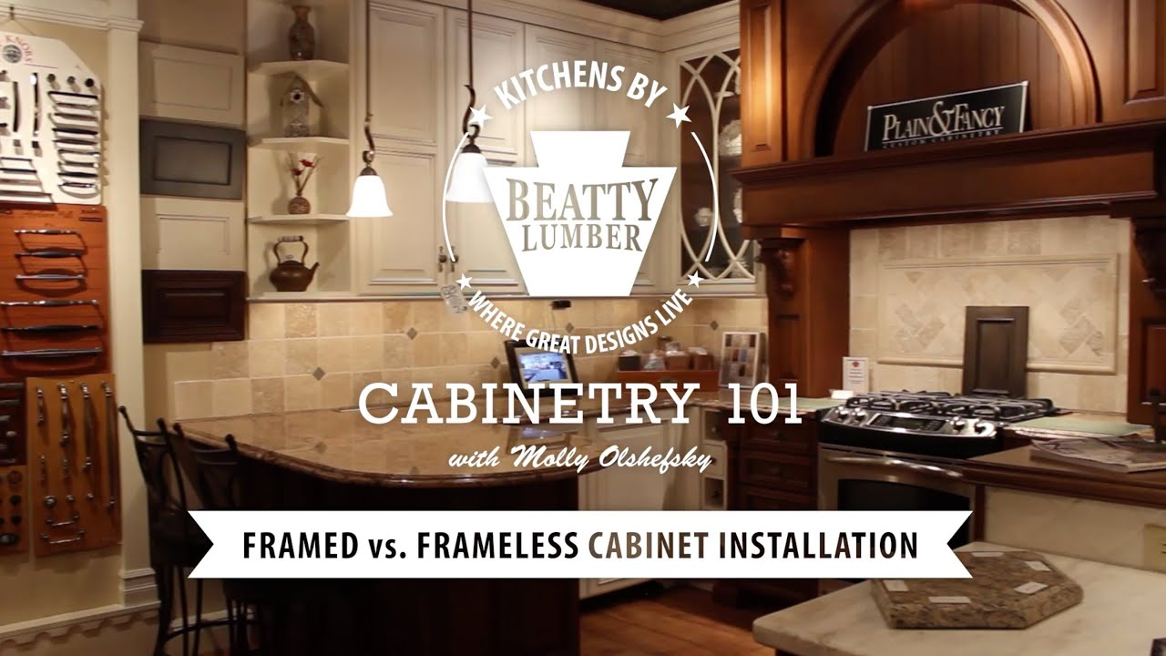 Cabinet Installation Company 8 Cabinetry 101 Framed Vs Frameless Cabinet Installation Youtube
