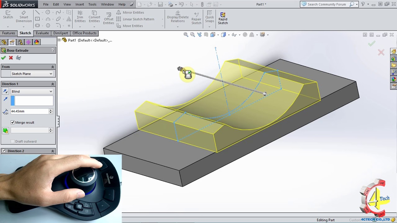 Chuột 3D   3D Mouse   SolidWorks   SpaceMouse Pro thiết kế sản phẩm trên SolidWorks