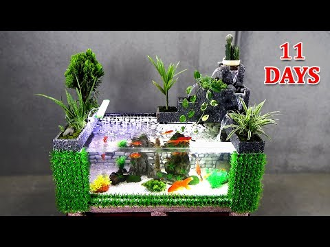 How To Make AMAZING AQUARIUM With Flowing Waterfalls