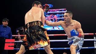 Teofimo Lopez knocks out Diego Magdaleno, goes wild with celebration | Top Rank Boxing Highlights