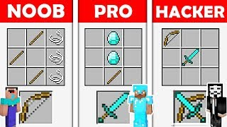 Minecraft Battle - NOOB vs PRO vs HACKER : SECRET CRAFTING RECIPES in Minecraft ! Animation
