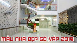 MẪU NHÀ PHỐ NGANG 5M 2019 DÀI RỘNG ĐẸP NGẤT NGÂY VỪA MỚI XÂY XONG |Quang Trung Go Vap