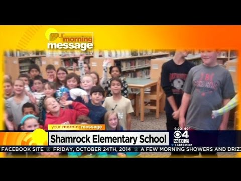 Your Morning Message: October 24, 2014: Shamrock Elementary School in Woburn, MA