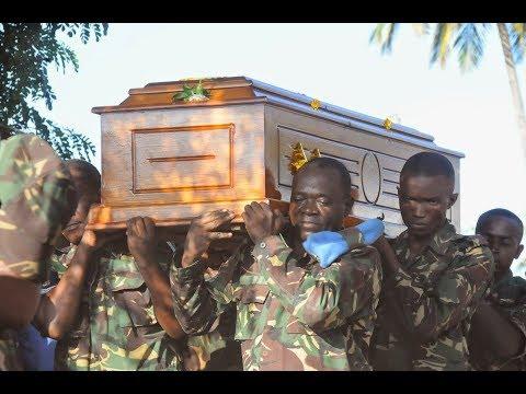 Simanzi Kuagwa kwa Miili ya Wanajeshi wa JWTZ Waliouawa, DR CONGO
