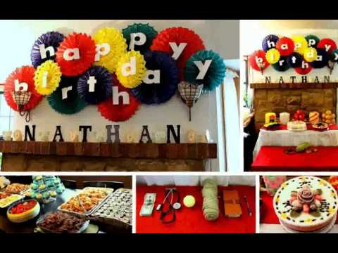 Birthday decoration ideas at home youtube for Party decorations to make at home
