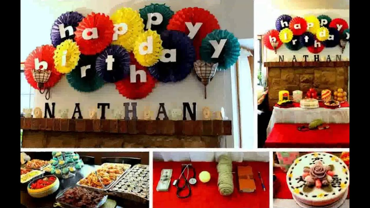 Birthday decoration ideas at home youtube for Simple party decorations at home