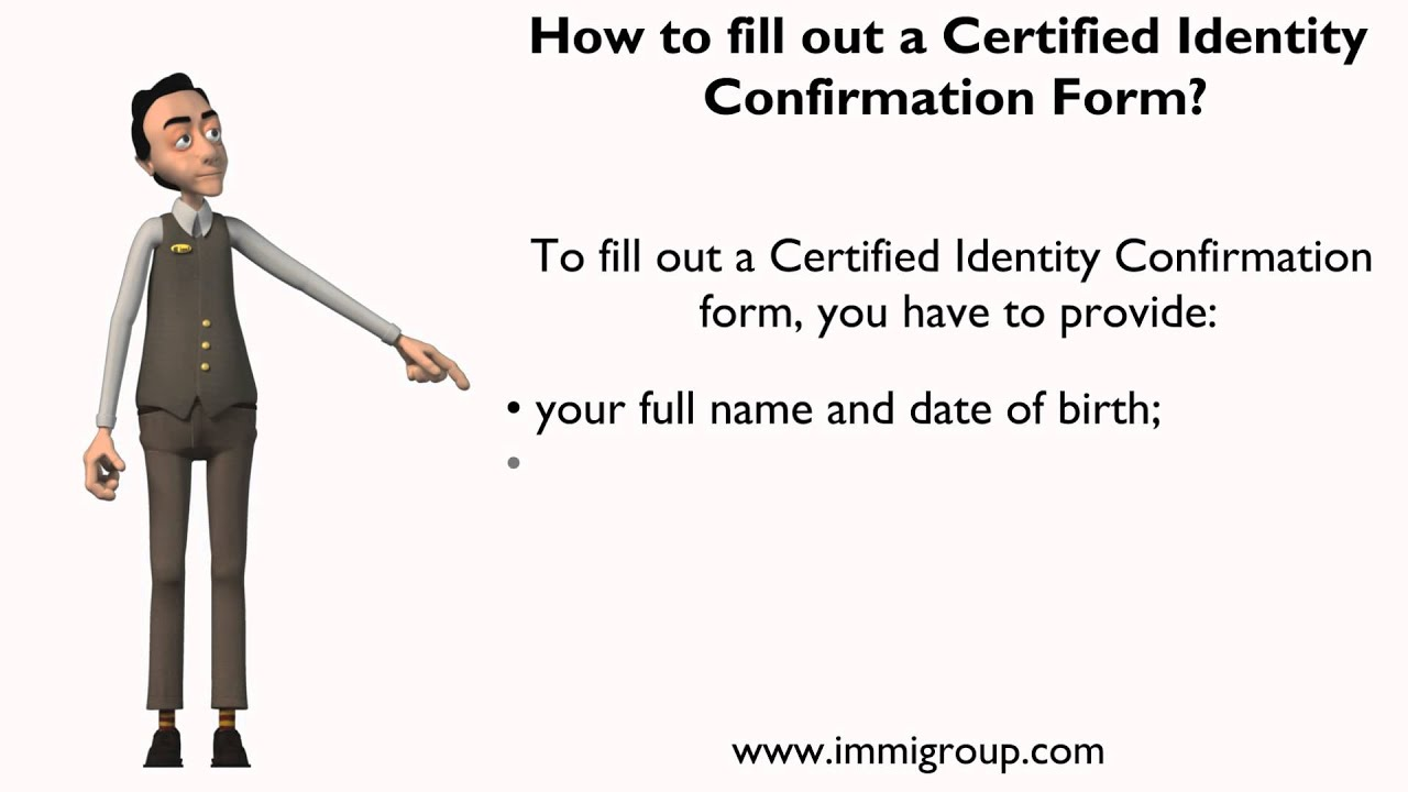 How to fill out a certified identity confirmation form youtube how to fill out a certified identity confirmation form 1betcityfo Images