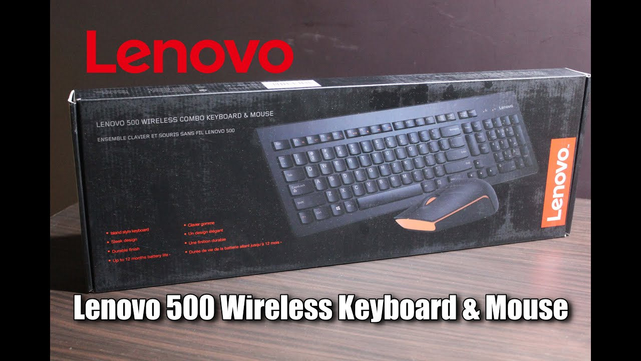 43b794f136c Lenovo 500 Wireless Keyboard & Mouse - Unboxing & Hands On - YouTube