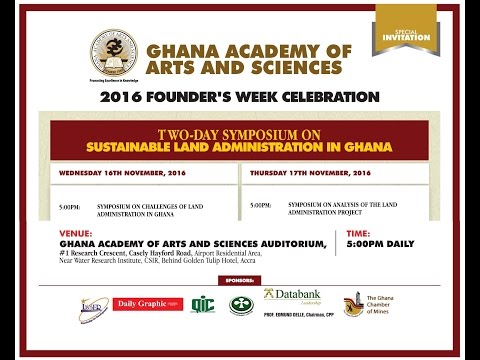 Symposium on Sustainable Land Administration in Ghana [Day 1]