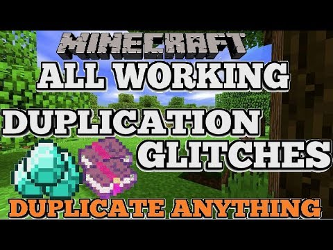 All Working Minecraft Duplication Glitches (Duplicate Anything)