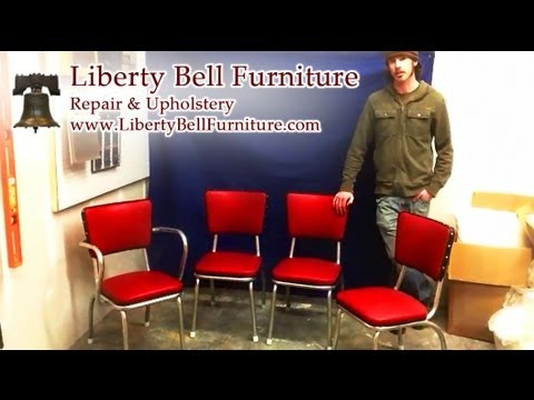 Retro Chair Vinyl Repair! Fast Upholstery Work From Portland, Maineu0027s Best Furniture  Repair Service