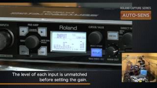 Roland Capture Series Technology: AUTO-SENS