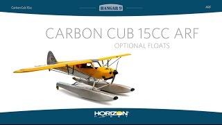 Load Video 2:  Hangar 9 Carbon Cub 15cc ARF Optional 1/5-Scale Fl...